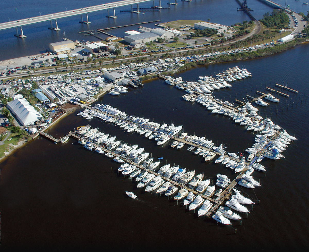 The Stuart Boat Show aerial