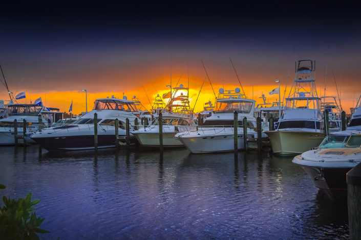 Stuart Boat Show at Sunset