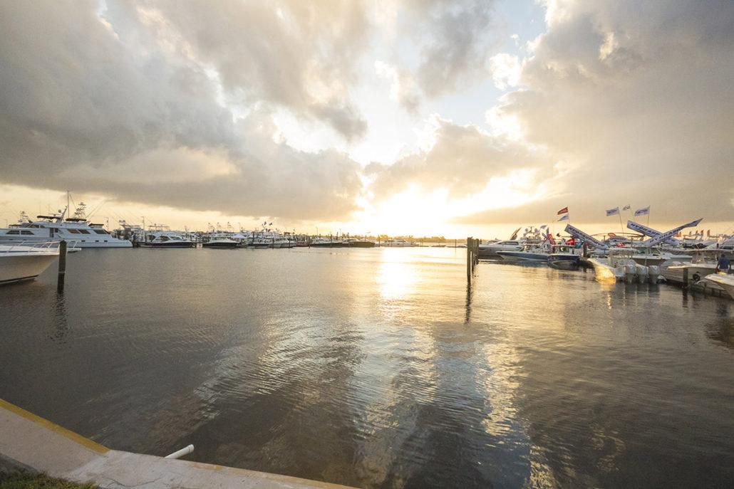 The Stuart Boat Show Docks at Sunset