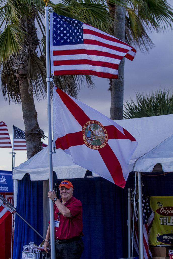 Flag Poles at The Stuart Boat Show