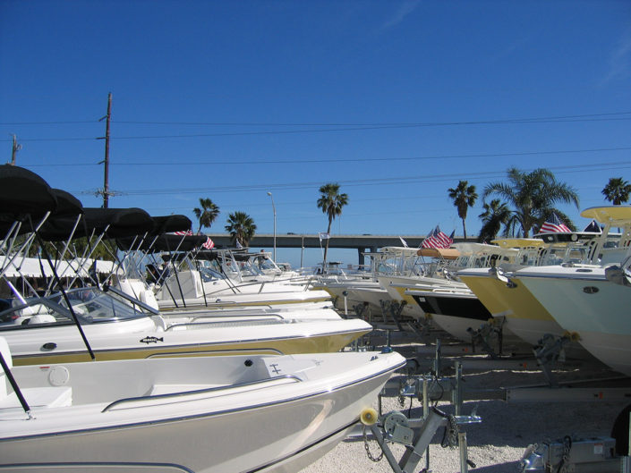 Small Boats on trailers at The Stuart Boat Show