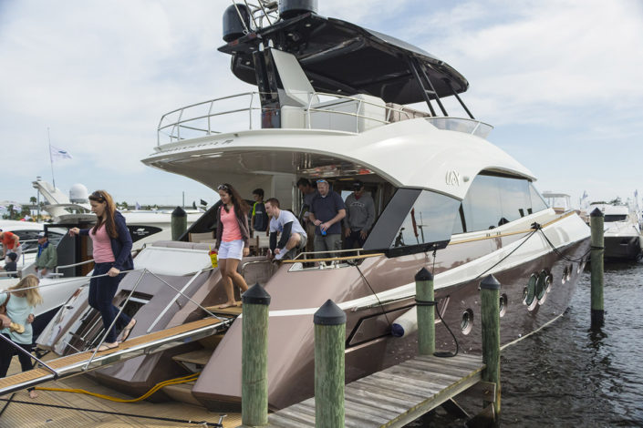 Yacht at The Stuart Boat Show