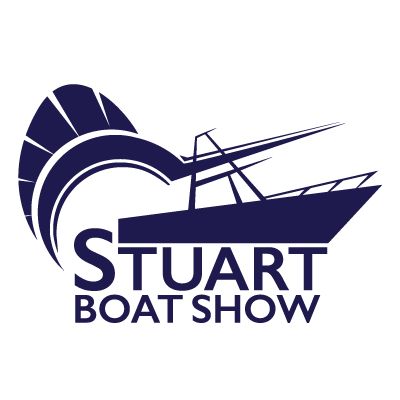 Stuart Boat Show Logo All Navy with White Background - Marketing Materials