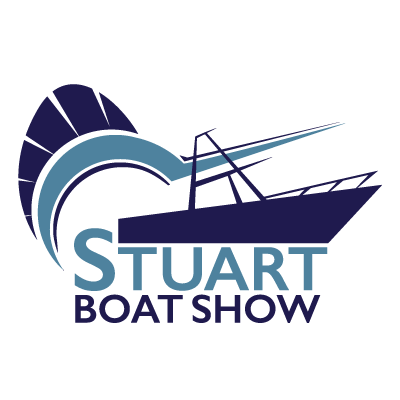 Stuart Boat Show Logo with White Background - Marketing Materials
